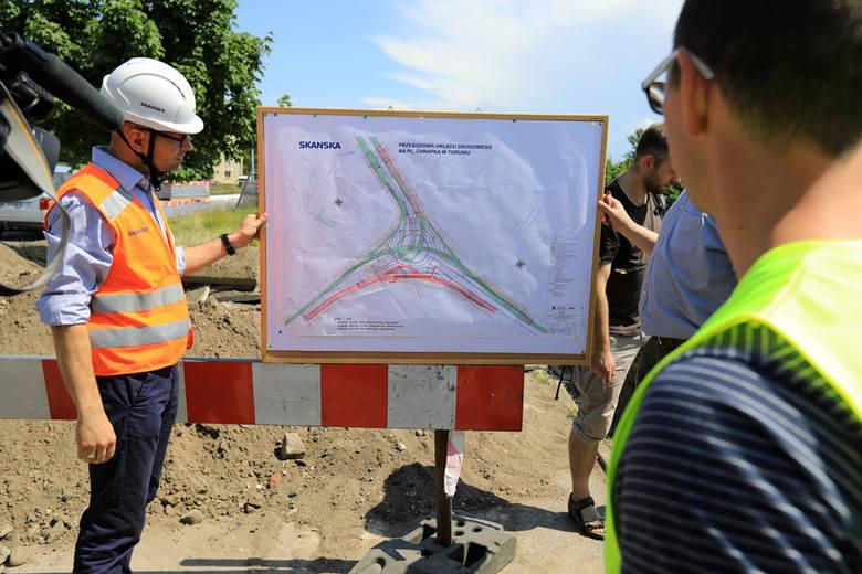 W Toruniu trwa przebudowa placu Chrapka. Od najbliższego wtorku (29 maja) na kierowców czekają kolejne zmiany w organizacji ruchu. Na ulicy Warneńczyka