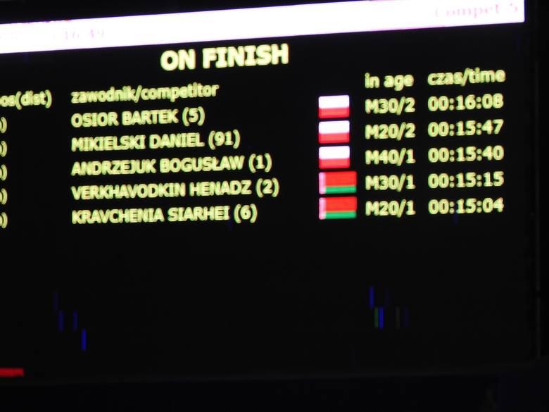 Białorusin wyprzedził swojego rodaka Genadza Werchawodkina o 11 sekund, trzeci był Bogusław Andrzejuk