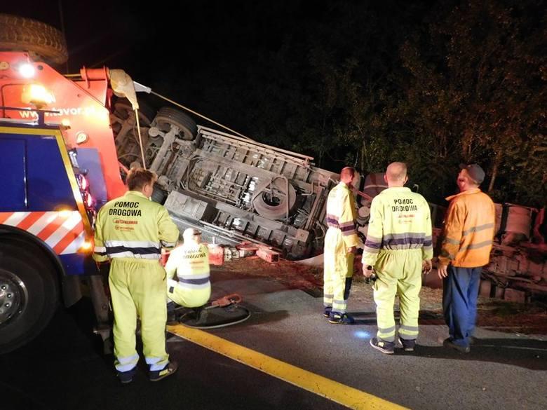 wypadek na s3, wyciąganie ciężarówki s3
