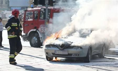 Alfa romeo w płomieniach