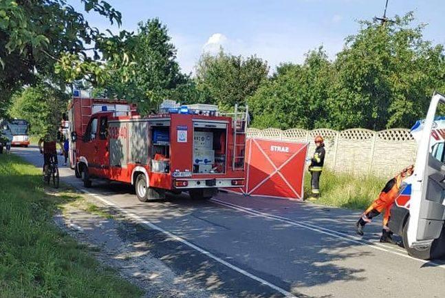 W wypadku w Nowej Woli Gołębiowskiej zginął 47-letni motorowerzysta.