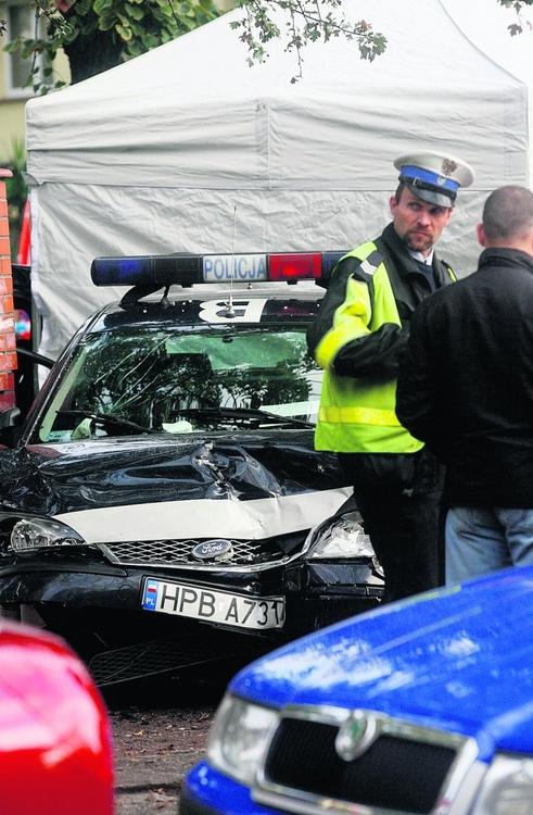 Miejsce wypadku na ul. Grunwaldzkiej w Legnicy