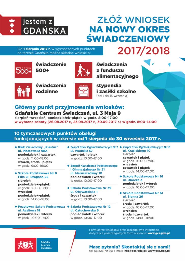 500 plus 2017 Gdańsk