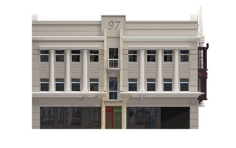 Nowa fasada od strony ul. Piotrkowskiej.