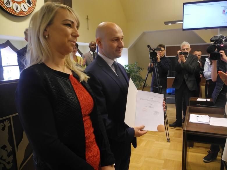 Rafał Zając odebrał dziś zaświadczenie o wyborze na prezydenta Stargardu.