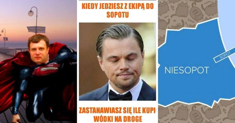 Tymczasem w Sopocie... Imprezowi turyści, parawaning, molo, Krzywy Domek. Z tego śmieje się Internet!