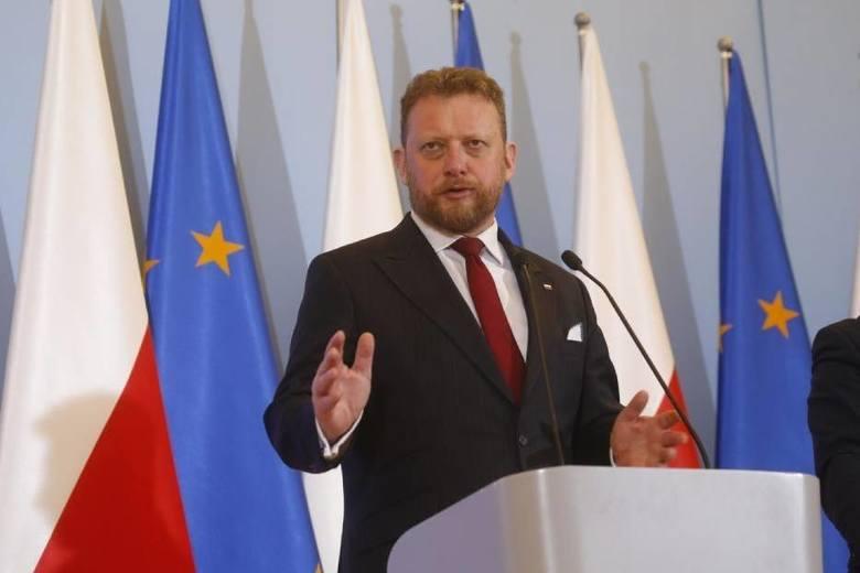 Minister zdrowia Łukasz Szumowski,