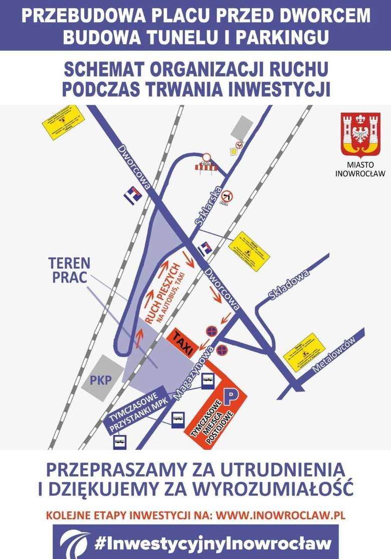 Uwaga! Ważna informacja dla korzystających z dworca PKP Inowrocław