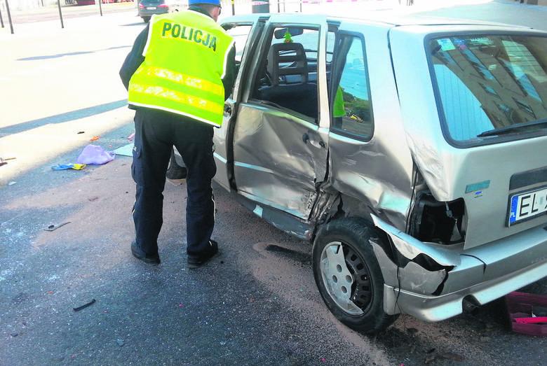 Do szpitala zamiast na wczasy...  Trzy kobiety ranne w wypadku w centrum Łodzi
