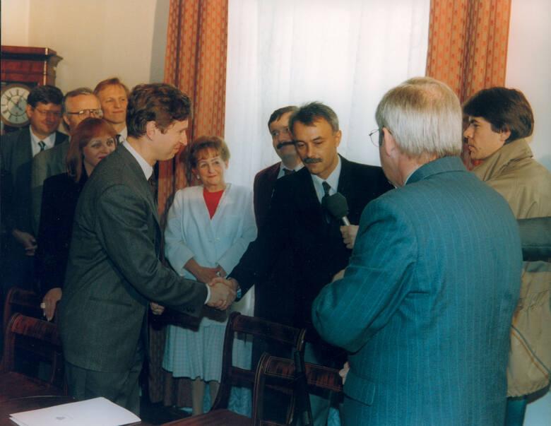 To właśnie w Łodzi podpisano pierwszą umowę wprowadzającą pilotaż miejski.