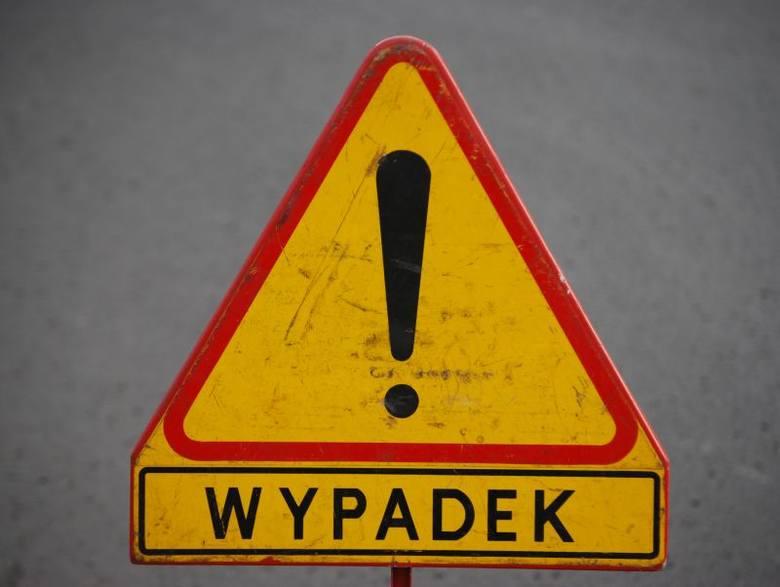 Bus uderzył w skarpę koło Radomicka. Dwie osoby ranne
