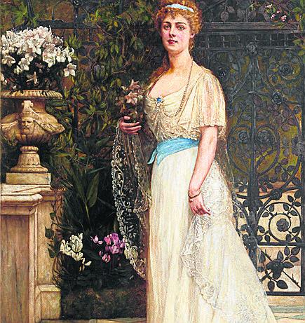 """Wielką zagadką jest liczący około 120 lat portret  księżnej Daisy, który oglądamy na wystawie stałej """"Galeria portretów."""" Ukazuje księżną trzymającą w ręku bukiet cyklamenów. Wiadomo jednak, że został zmieniony. Wcześniej Daisy trzymała pieska. Zmianie uległy też inne detale obrazu, nie wiadomo..."""