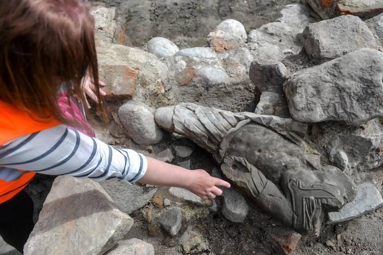 Barokowa figura odnaleziona w Gdańsku