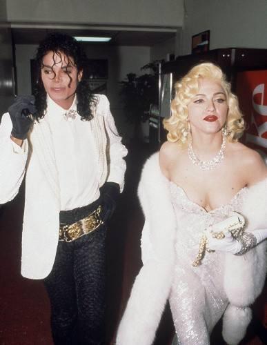 Michael Jackson i Madonna na 63. gali rozdania Oscarów w 1991 r.