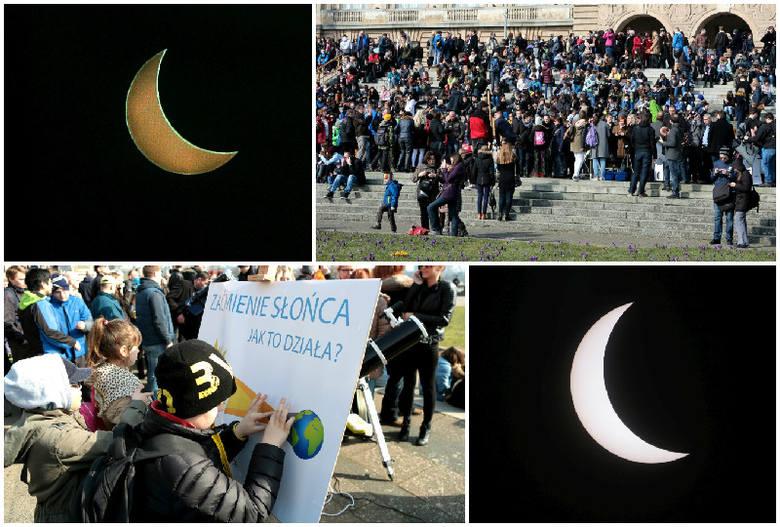 Tłumy szczecinian oglądały zaćmienie Słońca na Wałach Chrobrego [wideo, zdjęcia]