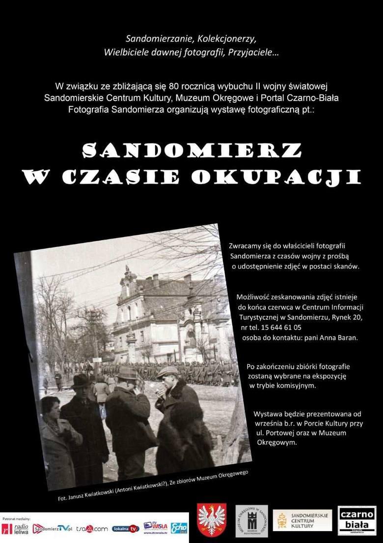 """Wystawa fotograficzna """"Sandomierz w czasie okupacji"""""""