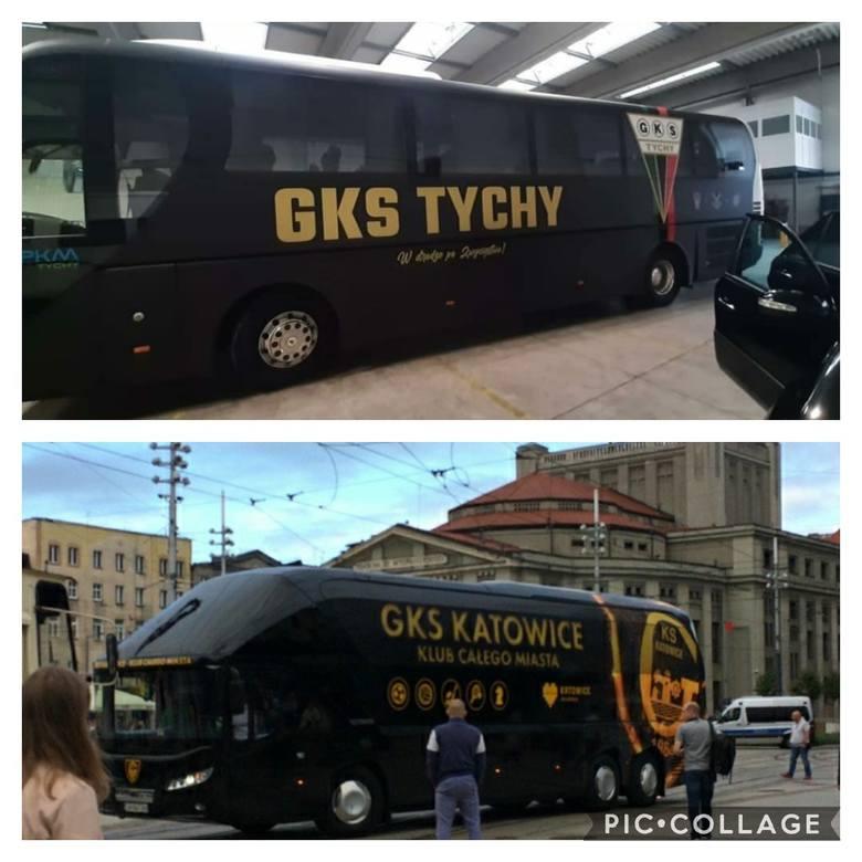 Porównanie autokarów GKS-u Tychy i GKS-u Katowice.Zobacz kolejne zdjęcia. Przesuwaj zdjęcia w prawo - naciśnij strzałkę lub przycisk NASTĘPNE