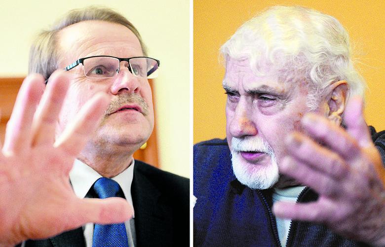 O historii miasta opowiadają Jerzy Fabiś i Ireneusz Brychcy