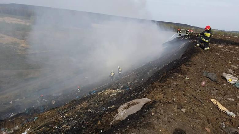 Tak wyglądał pożar tego wysypiska w kwietniu 2018 roku