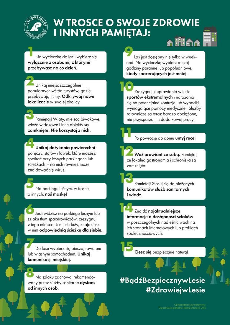 Parki i lasy otwarte, ale są nowe zasady. Co nam wolno? Trzeba stosować się do zaleceń i dbać o bezpieczeństwo