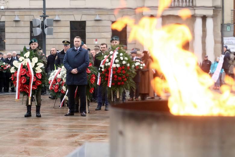 Święto Niepodległości 2019 w Lublinie. Defilada, hymn, przemówienia. Tak lublinianie świętowali na placu Zamkowym. Zobacz zdjęcia!