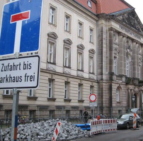 Frankfurt nad Odrą: Objazd do Viadriny