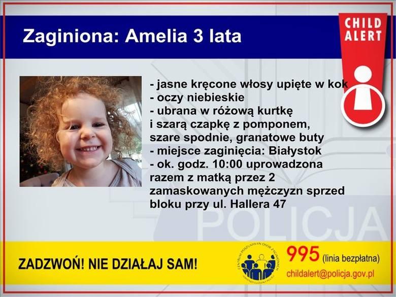 Porwanie matki z dzieckiem w Białymstoku. Amelka i jej 25-letnia mama uprowadzona przez dwóch napastników