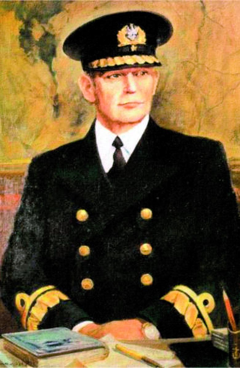 Kontradmirał Józef Unrug w mundurze galowym (lata 30.)