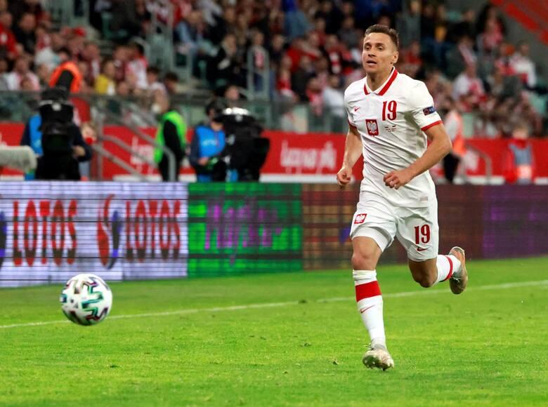 26-letni Przemysław Frankowski rozegrał do tej pory w reprezentacji Polski 11 spotkań i zdobył jedną bramkę (w meczu eliminacyjnym z Macedonią Półno