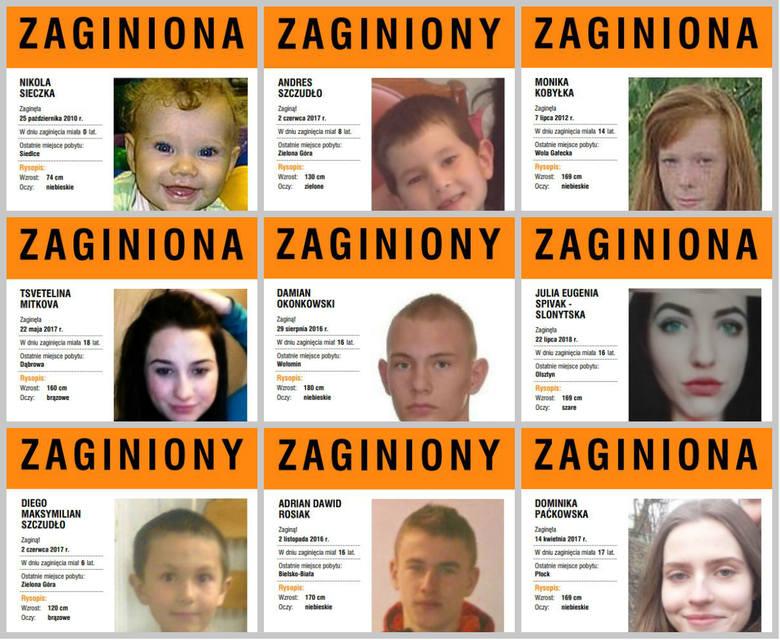 Zaginione dzieci w Polsce. Pomóż im wrócić do domu na święta! [Zdjęcia] [Plakaty]