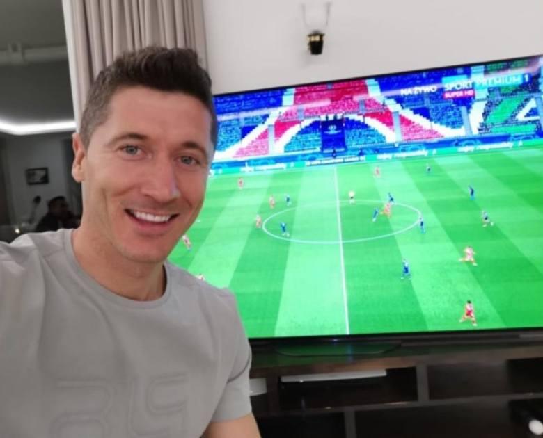 Lewy oglądał mecz w swoim domu