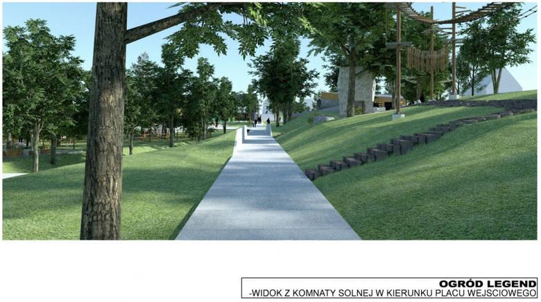 Nowy park w Pacanowie. Powstaną labirynt, ogrody, park linowy, lodowisko, skatepark. Znamy szczegóły inwestycji [WIDEO, WIZUALIZACJE]