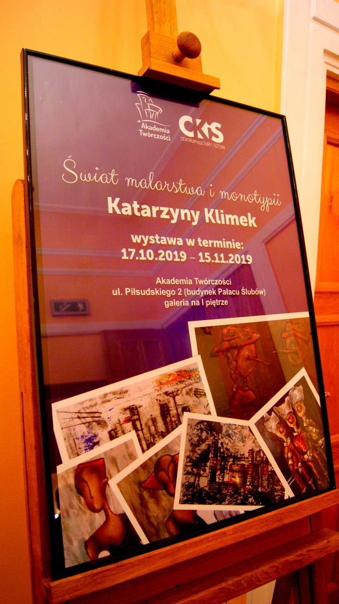Świat malastwa i monotypii Katarzyny Klimek w Akademii Twórczości w Skierniewicach [ZDJĘCIA, FILM]