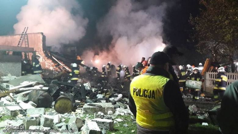 Wybuch gazu w domu koło Łodzi