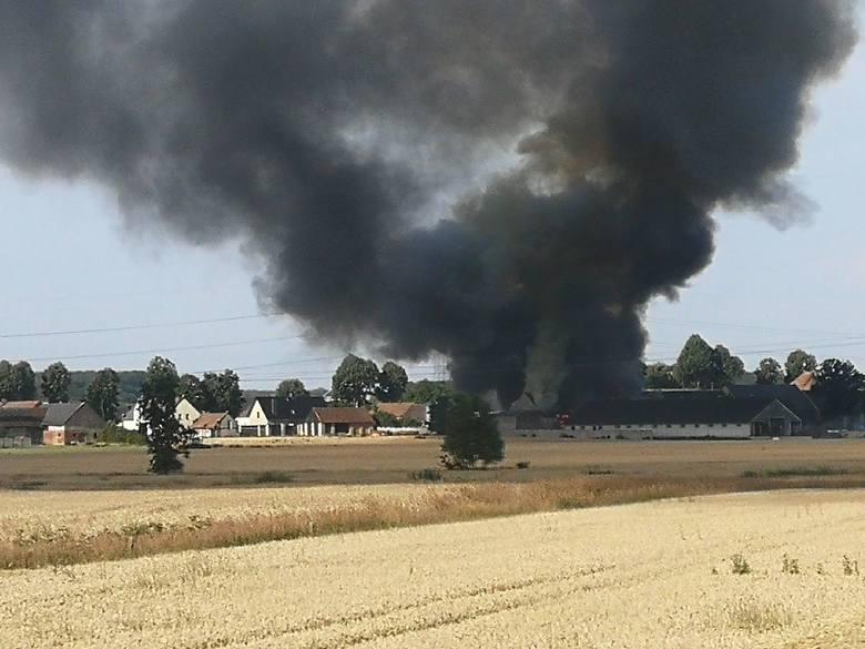 Pożar wybuchł w piątek rano w Chróścinie Opolskiej.