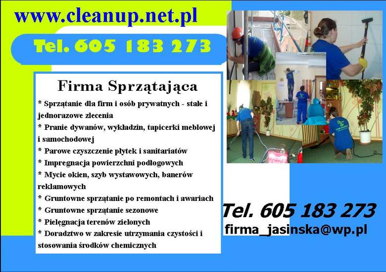 CLEAN UP - kompleksowe sprzątanie