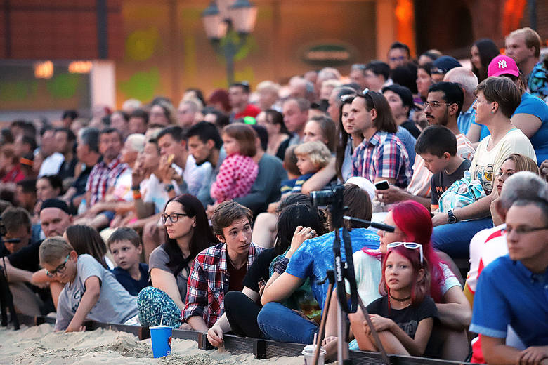 Festiwal Ognia na plaży w Manufakturze. Zobacz zdjęcia