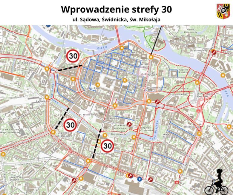 Ograniczenia do 30 km/h w centrum Wrocławia. Zmiany od dziś!