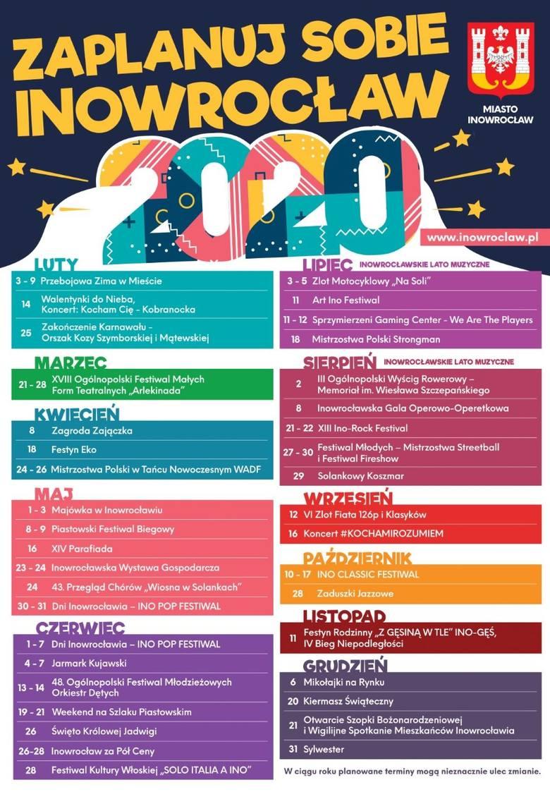 Rok 2020 w Inowrocławiu rokiem festiwali [co będzie się działo?]