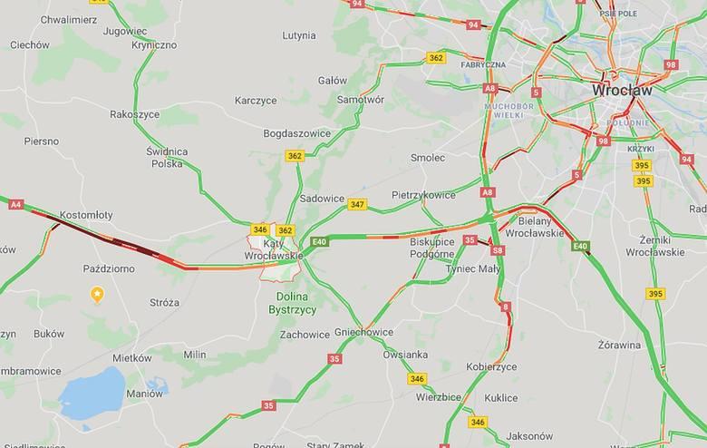 Karambol na autostradzie A4. Duże korki pod Wrocławiem