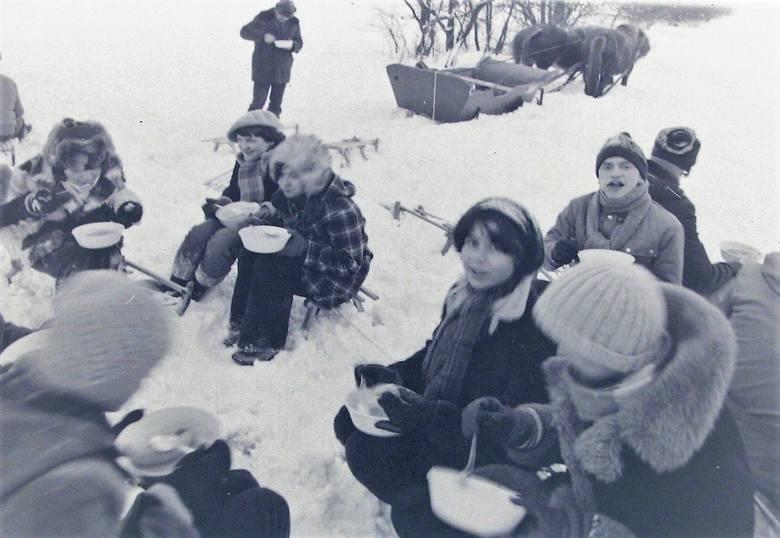 Na kuligu w zimę stulecia pod Słupskiem.