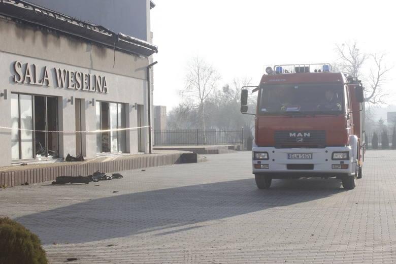 Spłonęła sala weselna w Natolinie [zdjęcia]
