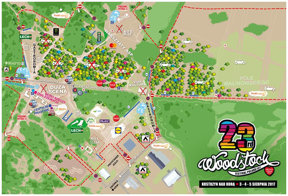 Mapa 23 Przystanku Woodstock 2017