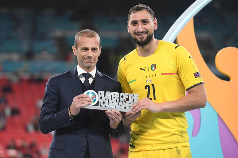 Gianluigi Donnarumma najlepszym piłkarzem Euro 2020. Pierwszy bramkarz z takim wyróżnieniem