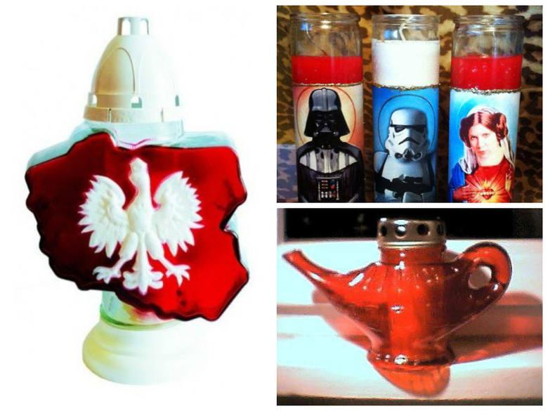 """Znicz w kształcie Polski, z wizerunkiem bohaterów """"Gwiezdnych Wojen"""", a może wyglądający jak lampa Alladyna? Dziś można już kupić naprawdę"""
