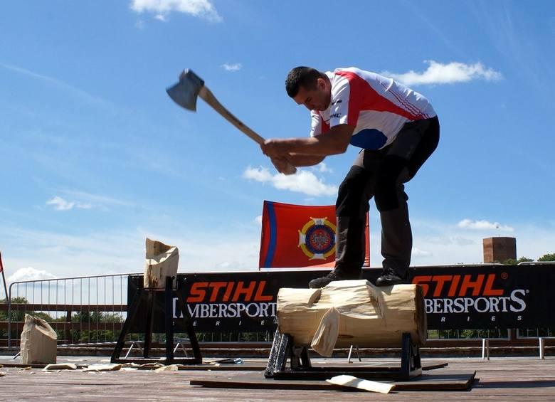 W Kruszwicy drwale walczyć będą o udział w mistrzostwach świata [zdjęcia z pokazu]