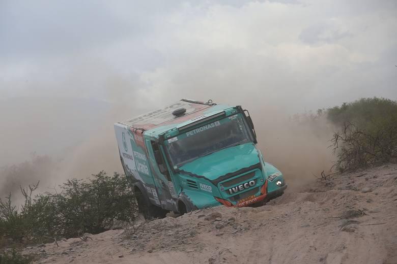 Darek Rodewald w Rajdzie Dakar 2017. Jego załoga zajęła 3. miejsce w kategorii ciężarówek.