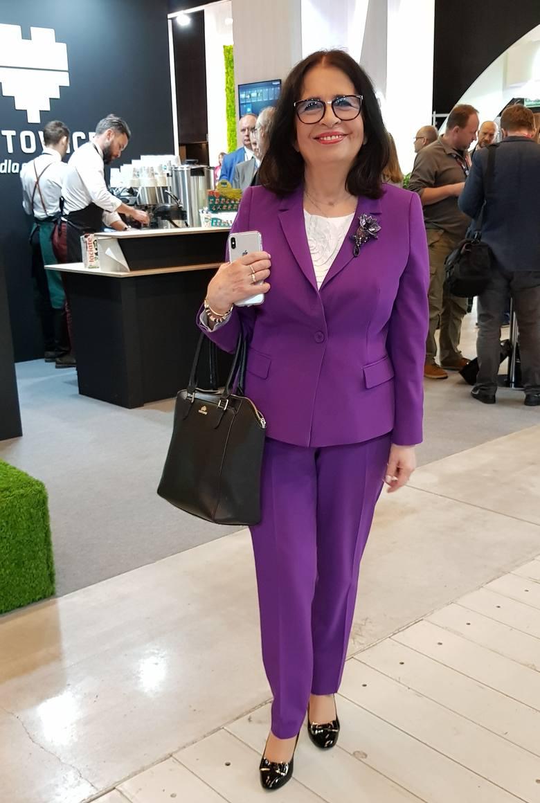 Najlepiej ubrane kobiety na Europejskim Kongresie Gospodarczym 2019:Krystyna Woźniak-Trzosek - prezes i redaktor naczelna magazynu Polish MarketPiękny