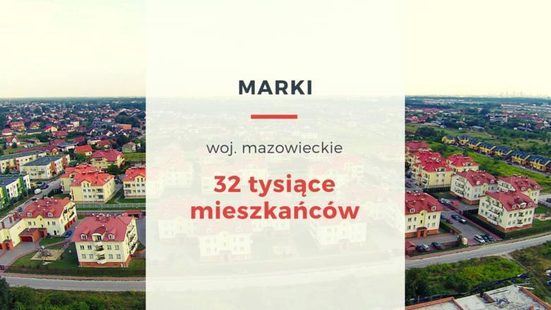 Podwarszawskie Marki również są zamieszkane przez ok. 32 tysiące ludzi, którzy ze swojego miasta nie mają szans wydostać się pociągiem. Od 1896 roku