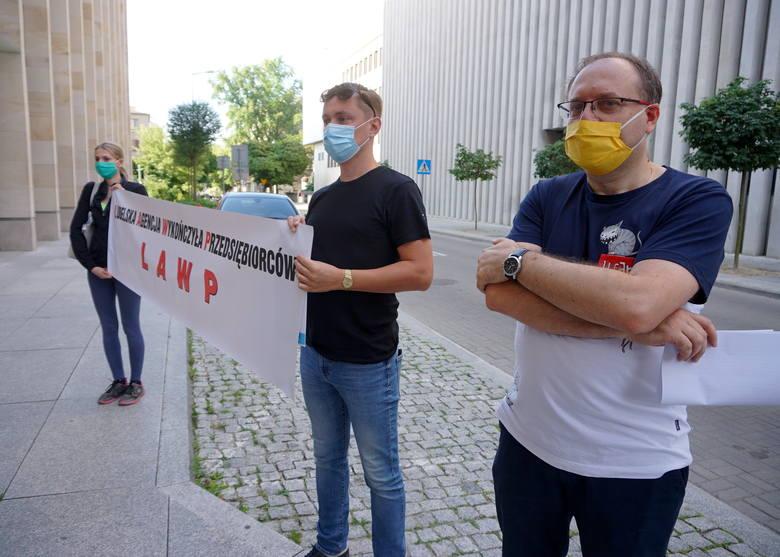 Protest przedsiębiorców w Lublinie
